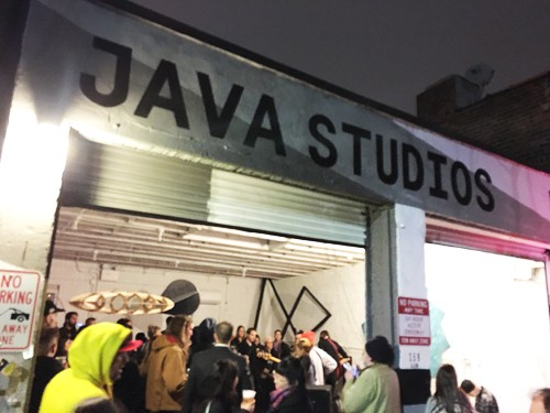 GOS Opening Party at Java Studios spilling into the street.