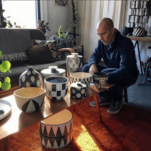 Matthew Ward at his home studio. Photo: Dobrinka Salzman