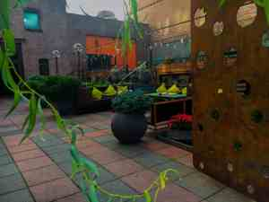MyMoon offers a beautiful courtyard perfect for a romantic dinner