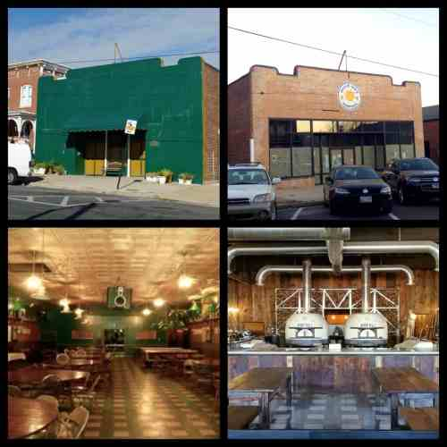 Paulie Gee's Hampden before/after photos of exterior and interior
