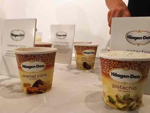 A selection of Häagen-Dazs