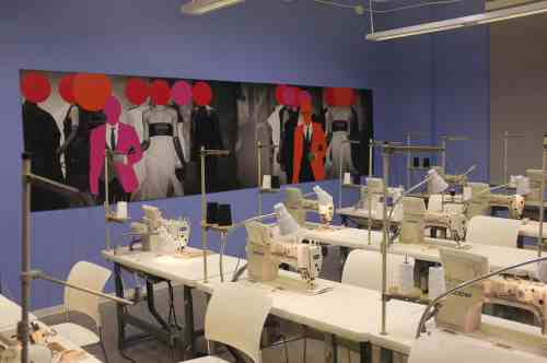 Eric Morrell's production design for the work room on Project Runway