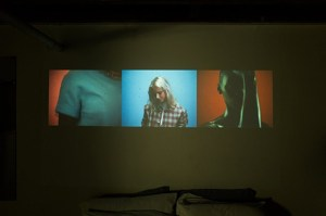 """""""And After That We Didn't Talk"""" video projection by GoldLink and Rubberband"""