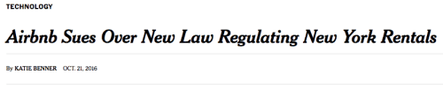 New York Times headline