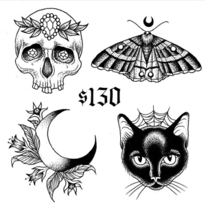 Gristle Tattoo Friday the 13th designs by @danaglover