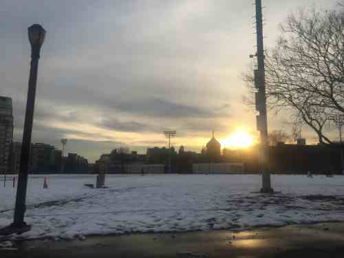 McCarren Park dusted with snow last weekend. Photo: Megan Penmann