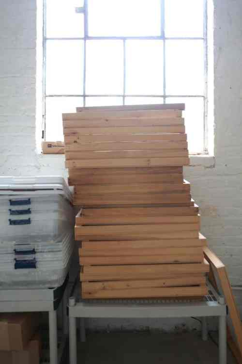 Drying racks in repose. Photo © Kevin Irby