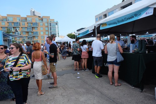 the crowd at Taste. photo by Julia Moak