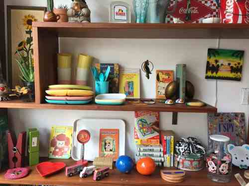 The colorful shelves at Mahps Kids and Home, photo by Megan Penmann