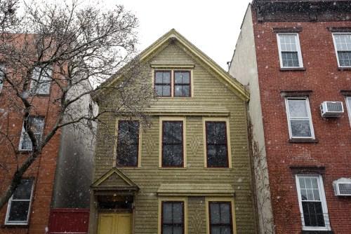 House on Noble Street in Greenpoint. Photo by Ian Hartsoe