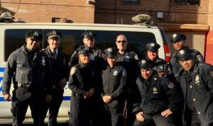The 94th Precinct and Auxiliary Officers gave meals to those in need on thanksgiving. Via Facebook