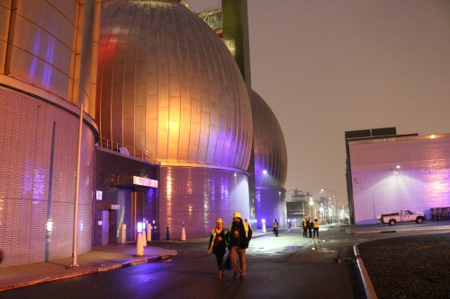 Outside the Newtown Creek Wastewater Treatment Plant digester eggs. Photo: Megan Penmann