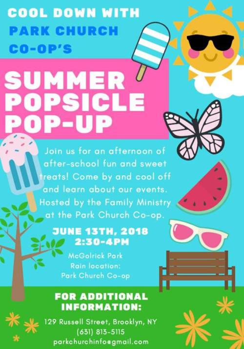 park church co op popsicle party