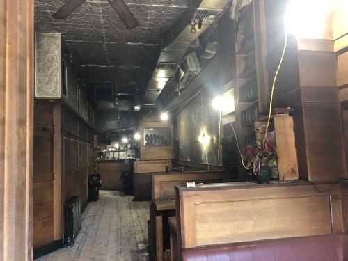 Inside Anella, after the fire. Photo: Megan Penmann