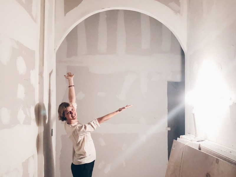 Lisa Levine in the new Maha Rose space. Photo via Maha Rose