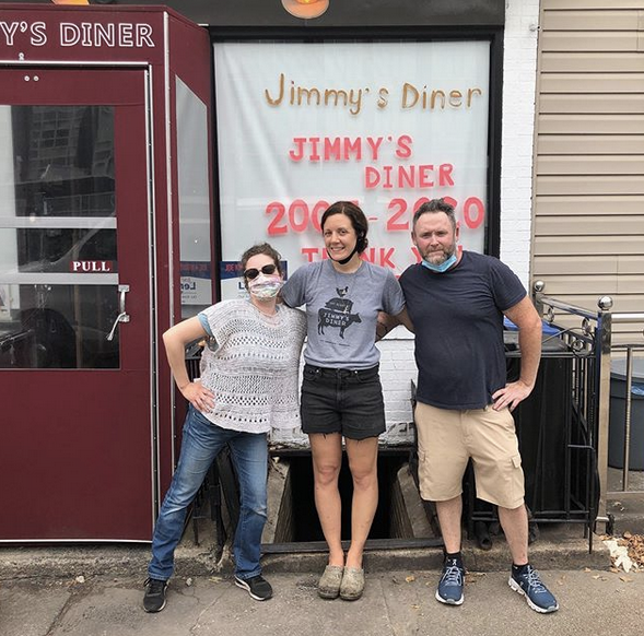 Outside Jimmy's Diner