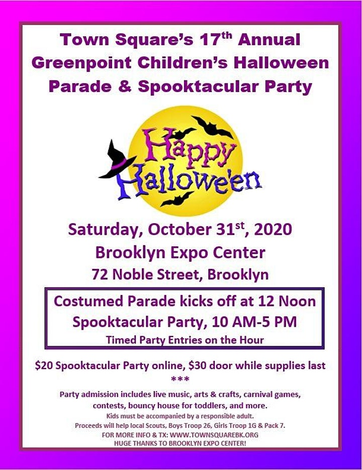 Greenpoint Halloween Parade 2020 17th Annual Greenpoint Children's Halloween Parade Happening