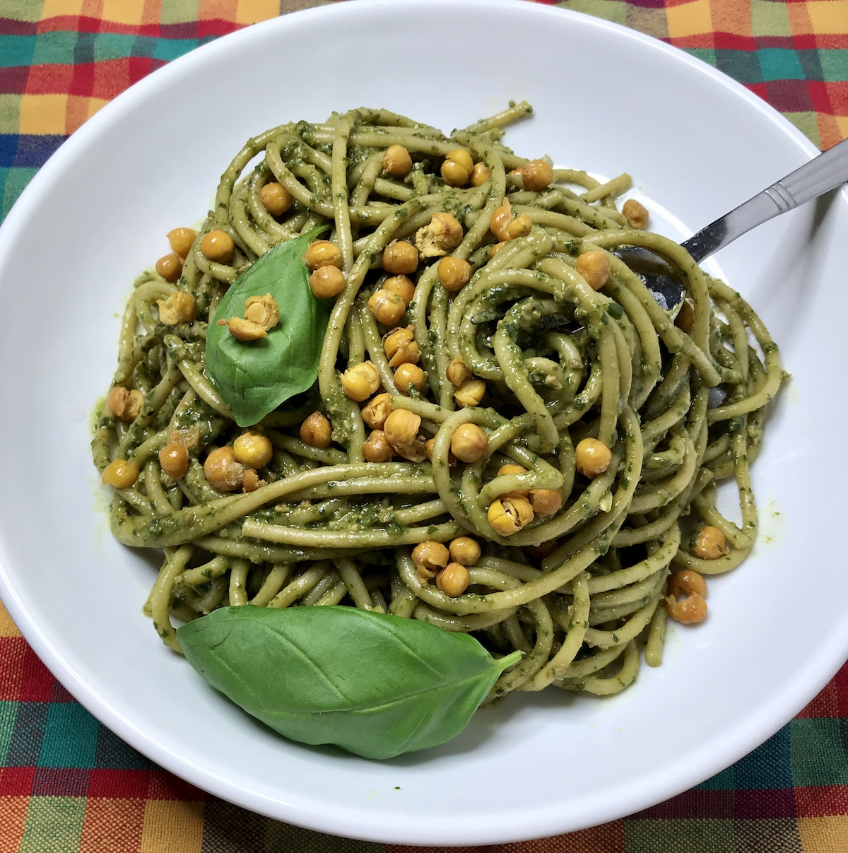 Greenpoint Cookbook: @NYCVeganMom's Vegan Pesto with Chickpeas