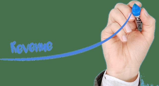 Marker Drawing Blue Revenue
