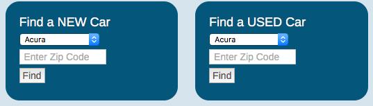 Find Car Search Widget