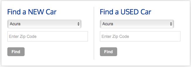 Find Vehicle Search Widget