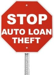 Stop Sign Auto Loan Theft