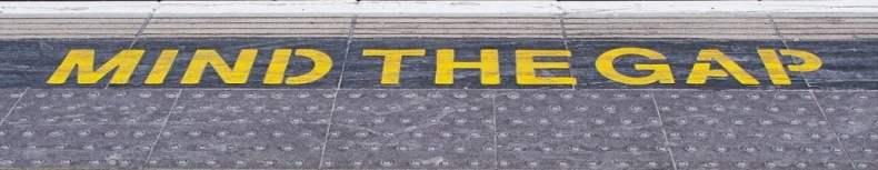 Mind the Gap Tube Notice