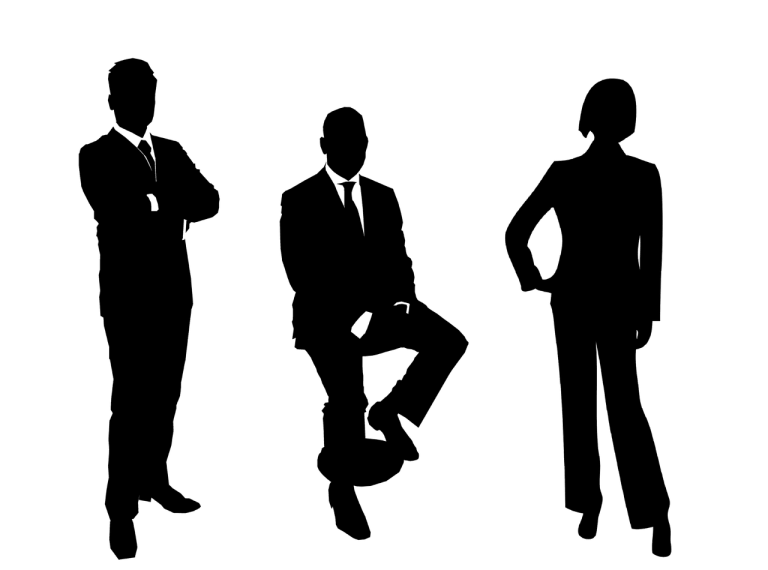 Silhouette Business People (Three)