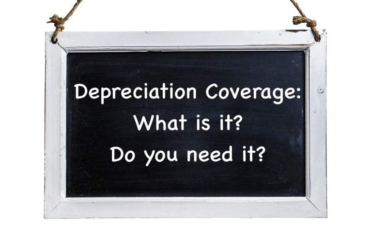 Chalkboard with Depreciation Coverage