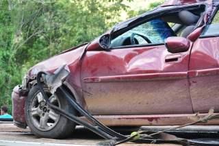 Red Car Front End Crash