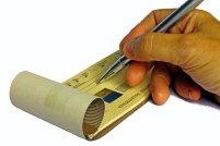 Writing in a Checkbook