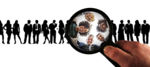 Magnifying Glass on Group of People