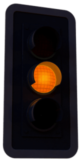 Yellow Traffic Light