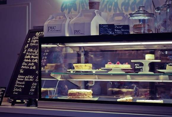 Coffee Shop Food Display