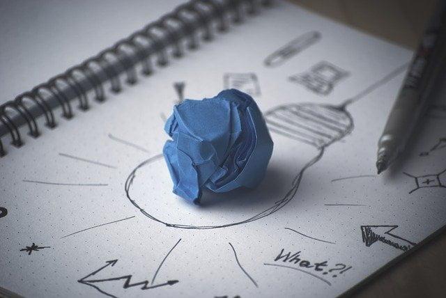 Crumpled Paper on Idea Light Journal