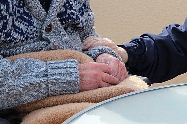 Older Person Hands Caring