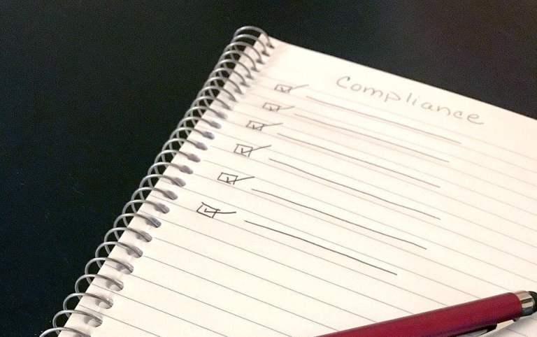 Compliance Checklist in Notebook