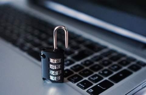 Combination Lock on Laptop