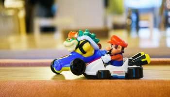 Mario and Bowser Carts Crash