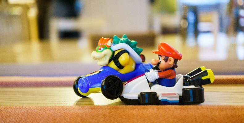 Mario and Bowser Carts Crash