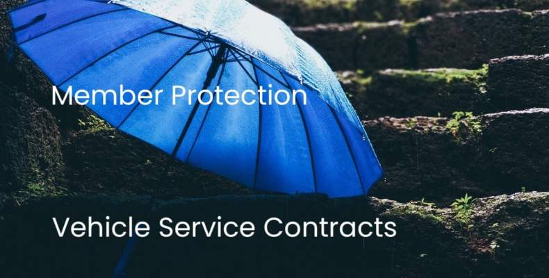 Blue Umbrella on Steps - VSC Member Protection