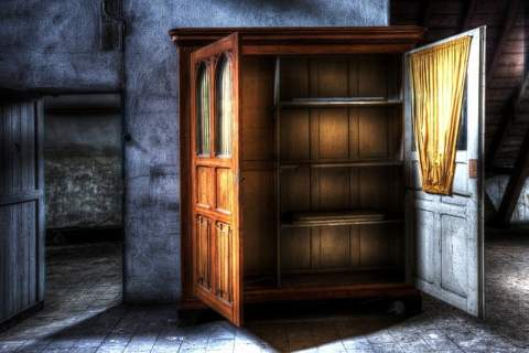 Wooden Closet in HDR