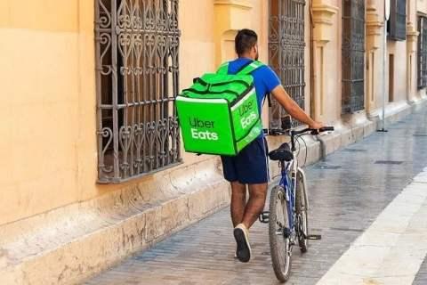 Uber Eats Bike Delivery Man