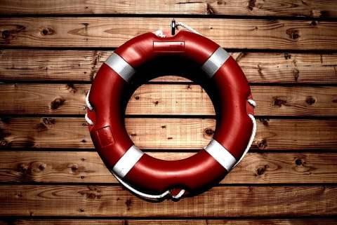 Lifesaver on Wood