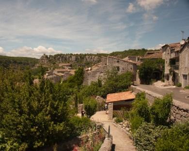 At the village of Balazuc, Gard, France