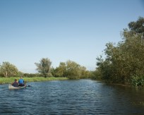 Canoeing on the River Stour in Kent, UK