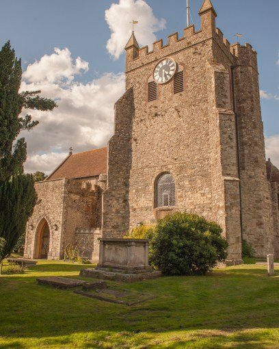 The church of St. Martin & St. Gregory in Wye, Kent, UK