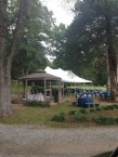 Gazebo & Food Tent at Green River Plantation Wedding Reception