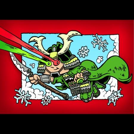 2009 Green Ronin holiday card, art by Ramsay Hong