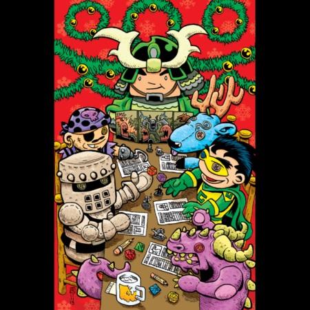 2012 Green Ronin holiday card, art by Ramsay Hong